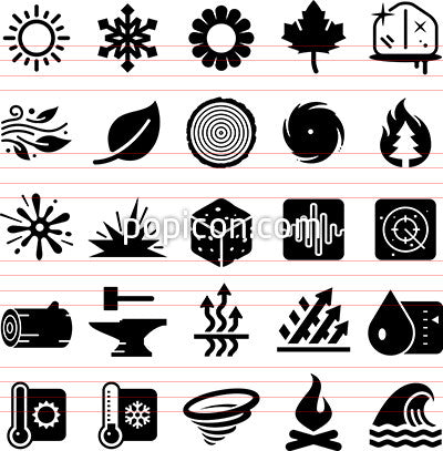 Earth Elements Icons