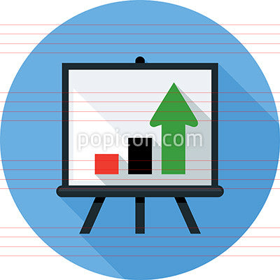 Easel With Arrows Icon
