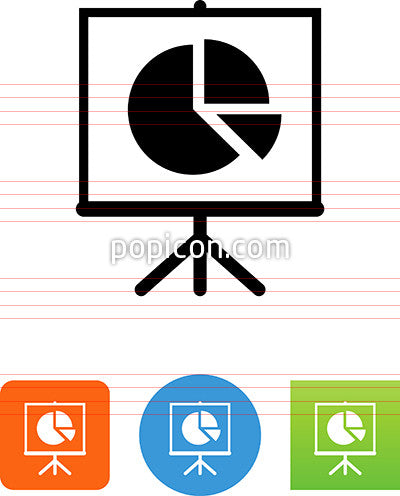 Easel With Pie Chart Icon
