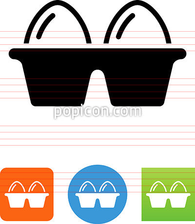 Egg Carton Icon