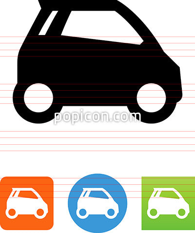 Electric Car Side View Icon