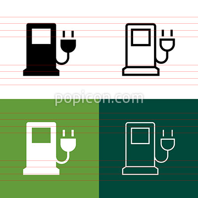 Electric Pump Icon Set