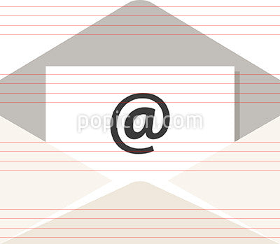 Email Icon With @ Sign