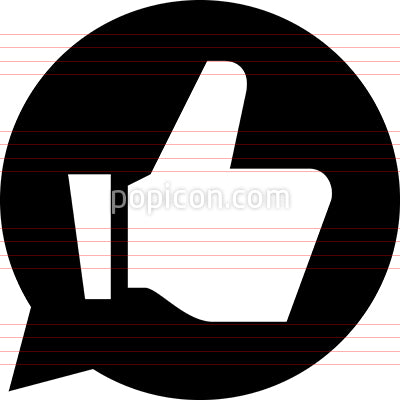 Endorse Recommend Approve Vector Icon