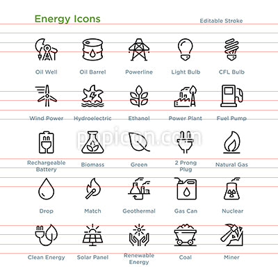 Energy Icons - Outline