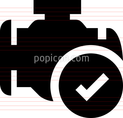 Engine Checkmark Vector Icon