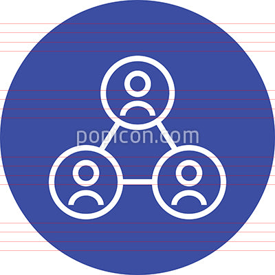 Enterprise Network Group Outline Icon