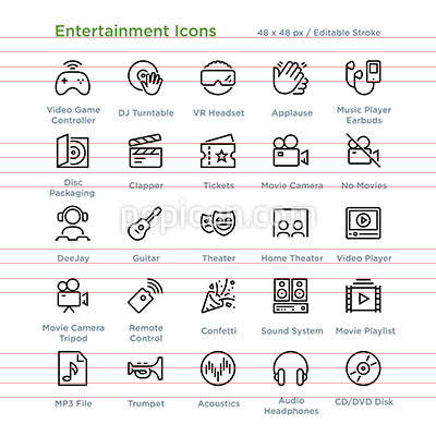 Entertainment Icons - Outline