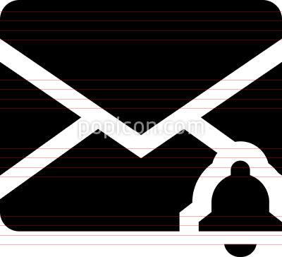 Envelope Email Alert Vector Icon