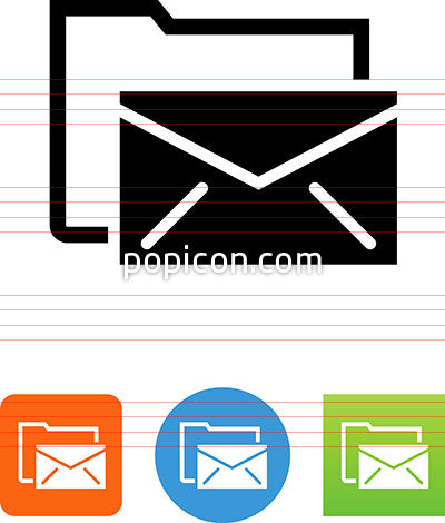 Envelope And File Folder Icon