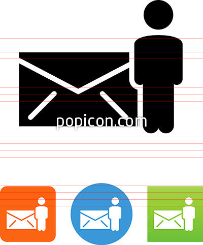 Envelope And Person Icon
