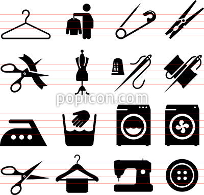 Fabric And Textiles Icons