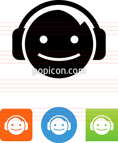 Face With Headphones Icon