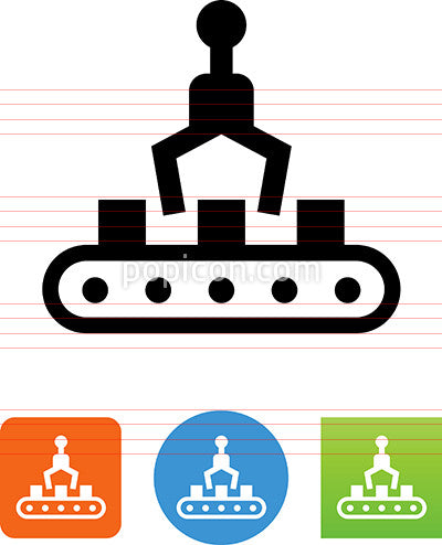 Factory Automation Assembly Line Icon