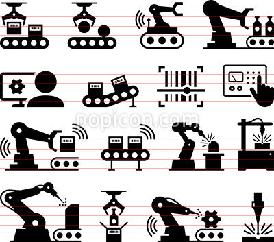Factory Automation Icons