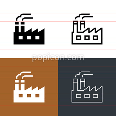 Factory Mill Icon Set