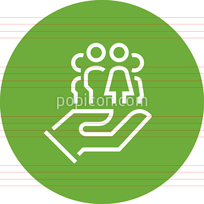 Family Aid Assistance Outline Icon