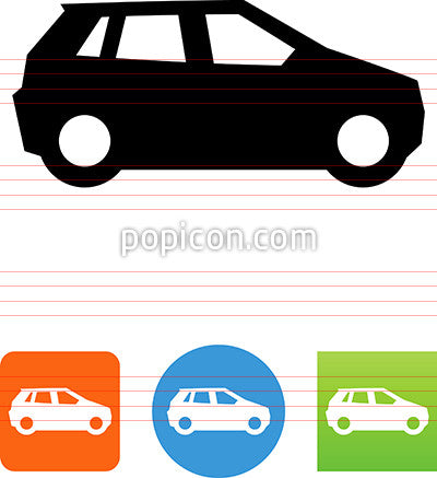 Family Car Side View Icon