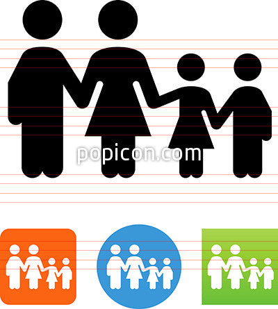 Family With Kids Icon