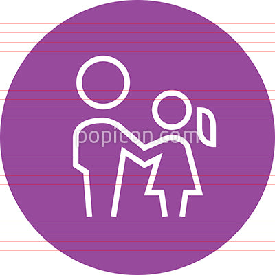 Father And Daughter Outline Icon