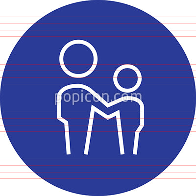 Father And Son Outline Icon