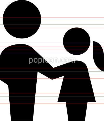 Father Daughter Vector Icon