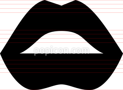 Female Lips Kiss Icon