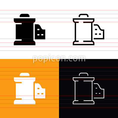 Film Canister Icon Set
