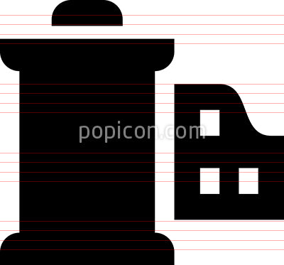 Film Canister Vector Icon
