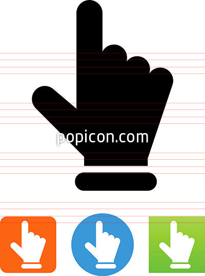 Finger Pointing Up Icon