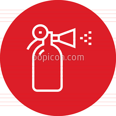 Fire Extinguisher Protection Outline Icon