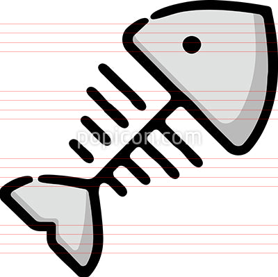Fish Bones Hand Drawn Icon
