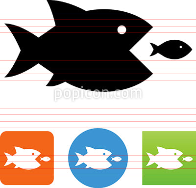 Fish Eating Fish Icon