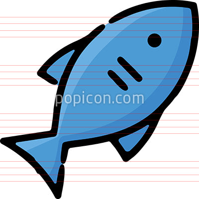 Fish Seafood Fishing Hand Drawn Icon