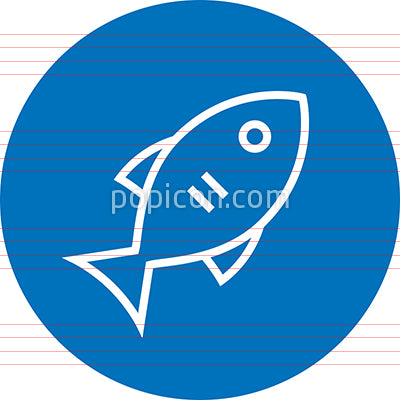 Fish Seafood Fishing Outline Icon