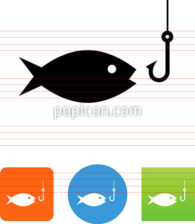 Fish With Hook Icon