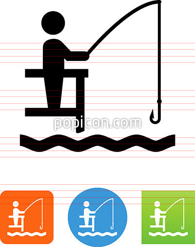 Fishing From Dock Icon