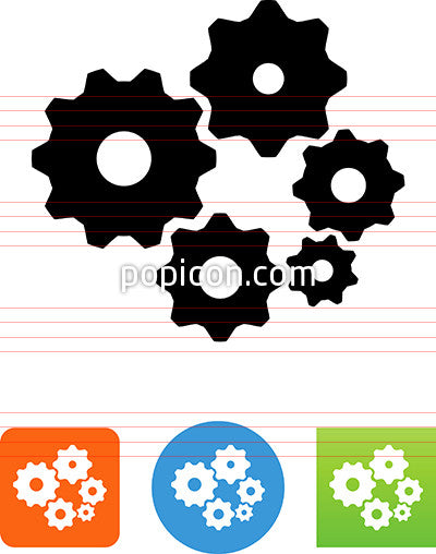 Five Gears Icon