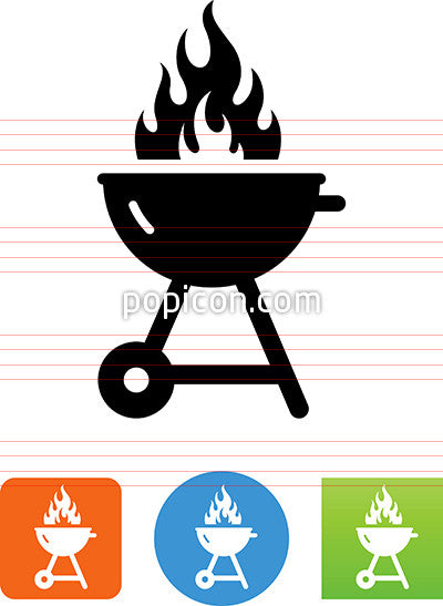 Flaming Grill Icon