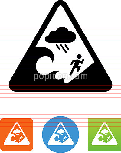 Flash Flood Warning Icon