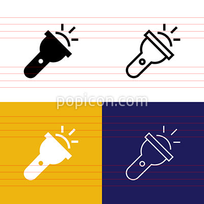 Flashlight Icon Set
