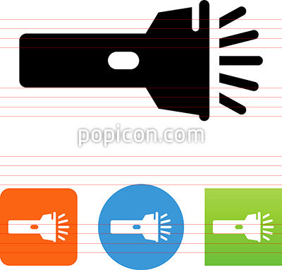 Flashlight With Beam Icon