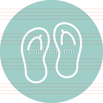 Flip Flops Sandals Outline Icon