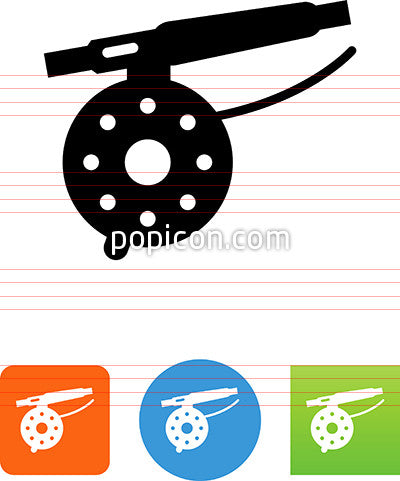Fly Fishing Reel Icon