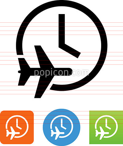 Flying Time Icon