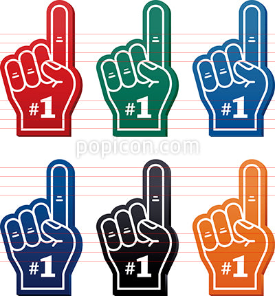 Foam Finger Vector Icon Set