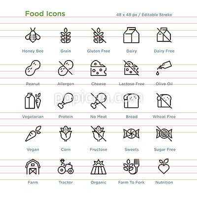 Food Icons - Outline