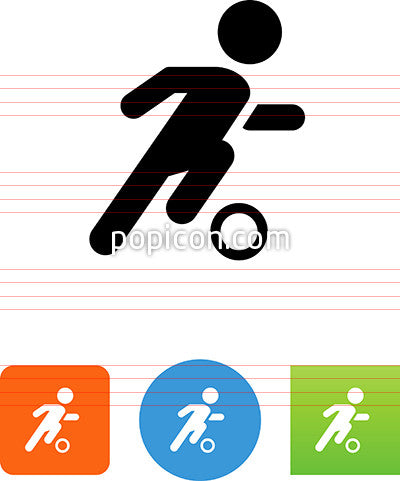 Football Player Dribbling Icon