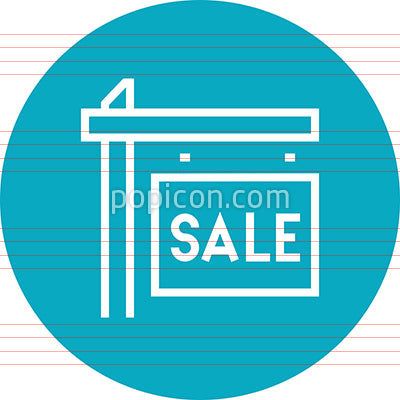 For Sale Real Estate Sign Outline Icon