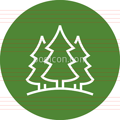 Forest Woods Evergreen Outline Icon